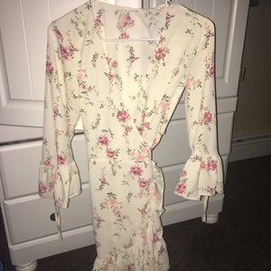 H&M Dresses - White floral dress from H&M